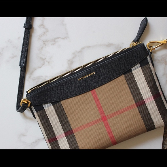 Burberry Handbags - Burberry Peyton House Check Crossbody Bag 572b36c95d6a4
